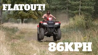 4. Riding 2018 Honda Foreman 500 FLAT OUT through forest Trails | Off roading 4X4