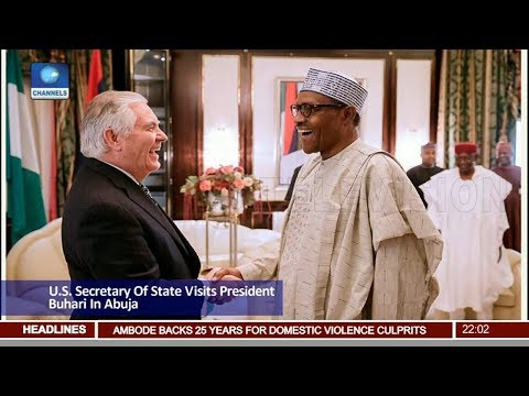U.S. Secretary Of State visits President Buhari In Abuja Pt.1 |News@10| 12/03/18