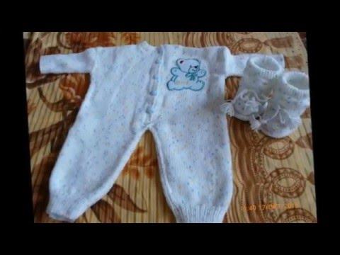 30 модных вязаных идей для новорожденных Костюмчики и комбинезоны видео