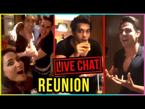 Hina Khan, Priyank Sharma And Luv Tyagi REUNION Af