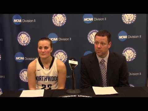 Northwood University Women's Basketball (1/8/15) NU 77, Tiffin 66 - Press Conference
