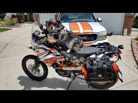 KTM 690 Wolfman 2018 Rocky  Mountain Saddlebags Install (видео)