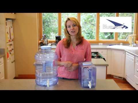 Bluewave 3 Gallon Beverage Dispenser & 5 Gallon Water Dispenser Bottle