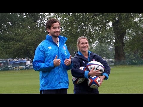 Danny Cipriani takes on Rachael Burford
