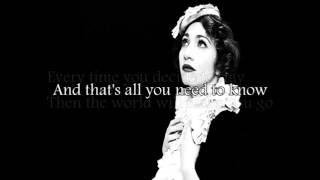 Regina Spektor- Older and Taller (Lyrics)