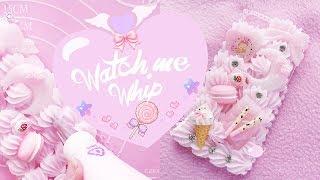 ♡ Watch Me Decoden♡ Strawberries and Cream Case