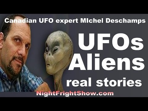 UFOs Aliens video real celebrity sightings Michel Deschamps Night Fright Show / Brent Holland
