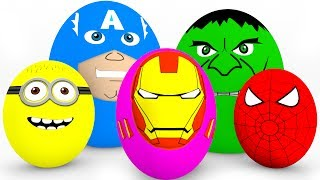 Video Learn Colors SURPRISE EGGS for Kids - Cars Truck Educational Video - Superheroes for Babies MP3, 3GP, MP4, WEBM, AVI, FLV Juli 2017