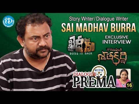 Dialogue Writer Sai Madhav Burra Exclusive Interview