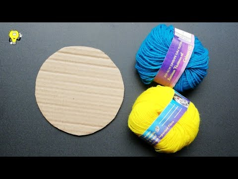 DIY Woolen Jhumar - Home Decorating Ideas - How To Make Jhumar At Home