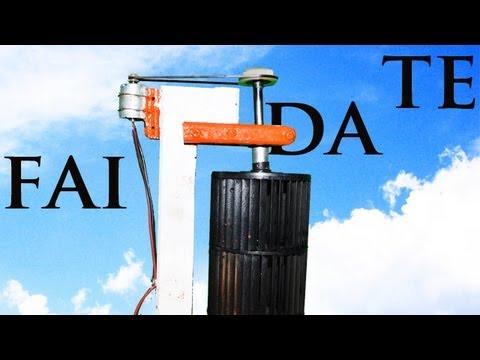 turbina eolica verticale - fai da te