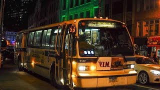 Audio clip of New York City Transit 1998 Novabus RTS-06 #9540 in service on Route B62 from Long Island City, Queens to Downtown Brooklyn. Powertrain: Detroit Diesel Series 50Transmission: Allison V731R