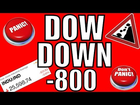 WHY The Stock Market Crashed Today –  Dow Jones Down 800 Points October 10, 2018