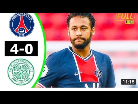 Neymar PSG vs Celtic 4−0 HIGHLIGHT & Goals 2020