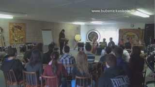 Bubnování s Ivo Batouškem - setkání se studenty SŠP Olomouc