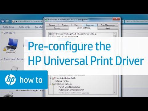 Pre-configuring the HP Universal Print Driver (UPD) using the HP Driver Configuration Utility Video