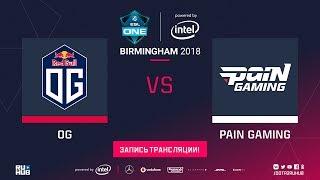 OG vs paiN, ESL One Birmingham, game 1 [Lum1Sit, Jam]