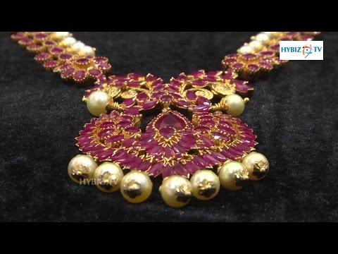 Ruby Stone Jewellery Long Haram - Malabar Gold and Diamonds | hybiz