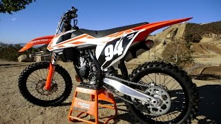 5. First Ride 2017 KTM 150SX 2 Stroke - Motocross Action
