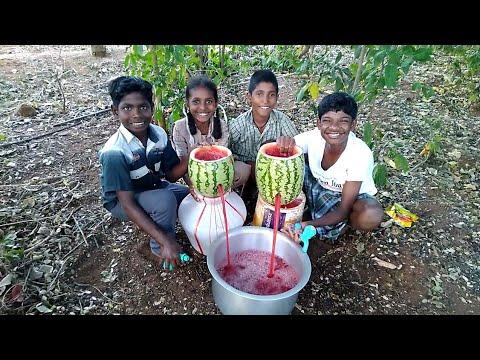 100 KG WATERMELON | Watermelon Fruit Juice Prepared in my Village | Summer Health Drinks