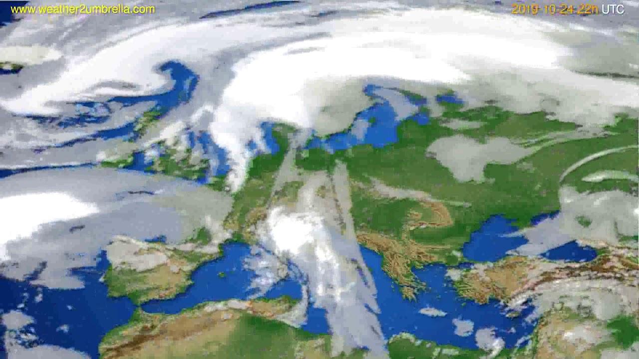 Cloud forecast Europe // modelrun: 00h UTC 2019-10-22
