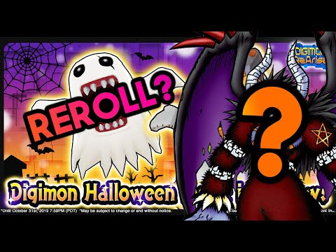 How to Reroll Guide | Halloween Edition | Digimon ReArise