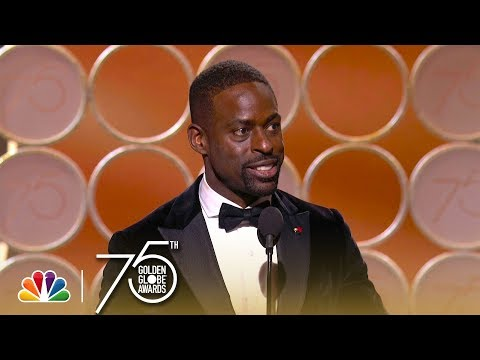 Sterling K. Brown Wins Best Actor in a TV Series, Drama at the 2018 Golden Globes