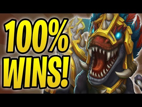 *100%* WINRATE WITH GONK OTK DRUID! | Gonk, the Raptor | Rastakhan's Rumble | Hearthstone