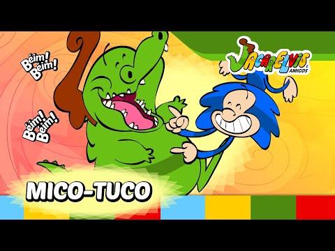 ♫♪ DIVIRTA-SE: Clipe Mico-Tuco  | Jacarelvis e Amigos (vol. 01):  Seus filhos gostam de uma divertida cosquinha? O Mico-Tuco te cutuca nesse rockabilly que não vai deixar ninguém parado!Esse simpático clipe infantil em animação está no DVD do Jacarelvis volume 01.CD e DVD do Jacarelvis a venda em:http://www.jacarelvis.com.brhttp://som.li/1vjDFxwClipes para Android: http://goo.gl/HJo9KvClipes para Iphone e iPad: http://goo.gl/29T3fhMúsicas no iTunes: http://som.li/1wFR41WClipes no iTunes: http://goo.gl/eexXucOuça na Deezer: http://som.li/1rrDtv4Ouça no Spotify: http://goo.gl/72SftJAtividades Educativas do Jacarelvis em:http://www.jacarelvis.com.br/atividades-educativas-do-jacarelvis.htmSite do Jacarelvis: http://www.jacarelvis.com.br/Facebook: http://www.facebook.com/JacarelvisCanal no Youtube: http://www.youtube.com/user/JacarelvisInscreva-se nos sorteios em: http://www.jacarelvis.com.br/sorteios/Jacarelvis e Amigos ® - Todos os direitos reservadosRealização e animação: Animar Estúdio / http://www.animarestudio.com.br