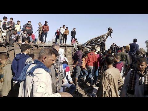 Egypte : deux trains s'encastrent, au moins 32 morts et 108 blessés