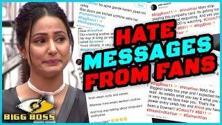 Video Fans HATE MESSAGES For Hina Khan For INSULTING Arshi Khan | Bigg Boss 11 MP3, 3GP, MP4, WEBM, AVI, FLV November 2017
