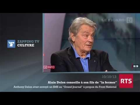 """FN : Alain Delon conseille à son fils de """"la fermer"""""""