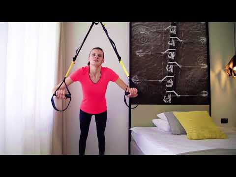 Firming arm muscles with TRX band