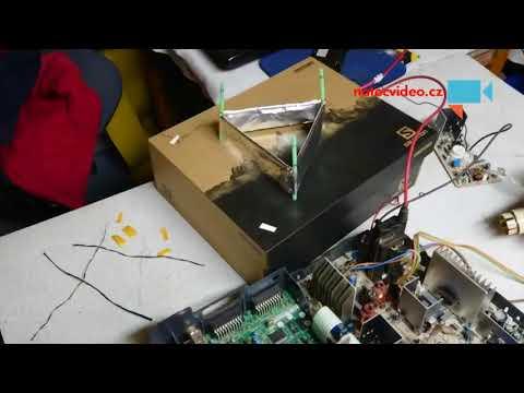 Experiment s levitacnim modelem