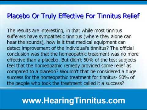 Homeopathic Treatment For Tinnitus – A Proven Success?
