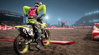 Monster Energy Supercross - Suzuki RM-Z 450 - Test Ride Gameplay (PC HD) [1080p60FPS]