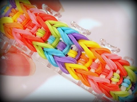 Rainbow Loom Monster Tail Armband / Arrow Bracelet / Loom Bandz Anleitung (Anleitung deutsch)