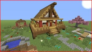 Minecraft Tutorial: How To Make A Japanese House