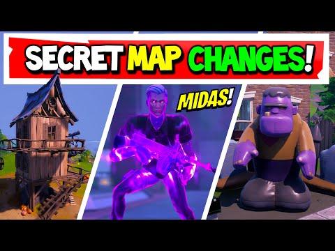 "Fortnite | All Season 4 SECRET MAP CHANGES | ""Midas' Revenge"" Week 9 v14.40 (Xbox, PS5, PC)"