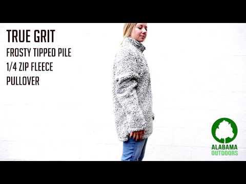 True Grit Frosty Tipped Pile 1/4 Zip Fleece Pullover Size Comparison