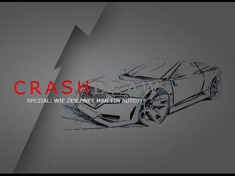 Wie zeichnet man ein Auto? Zeichnen lernen leicht gemacht von Fargus Design CrashDraw