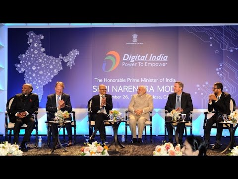 PM Modi attends Digital India and Digital Technology Dinner in San Jose, California.