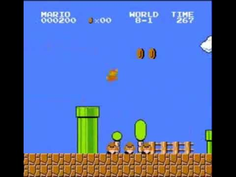 Super Mario Bros. - 500 Point Run (видео)