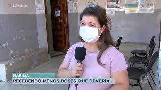Covid-19: Marília relata que tem recebido menos doses da vacina
