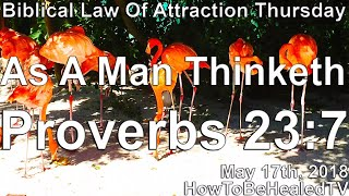 🔴 As A Man Thinketh | Proverbs 23:7 | Biblical Law Of Attraction - HowToBeHealedTV