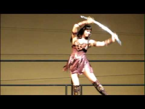 SEXY XENA WARRIOR PRINCESS PERFORMANCE!!!! HOT HOT HOT