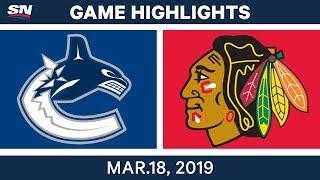 NHL Game Highlights   Canucks vs. Blackhawks - March 18, 2019