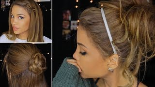 4 Cute & Lazy Winter Hairstyles! - YouTube
