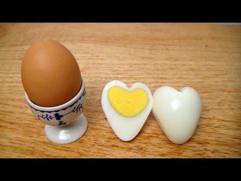 come fare un uovo a forma di cuore!