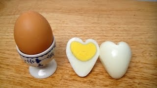How to Make a Heart Shaped Egg  ♥ Heart Egg